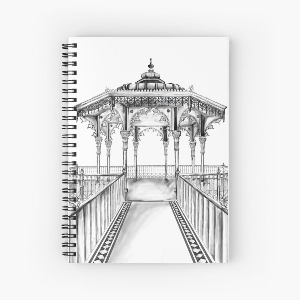 Brighton Bandstand illustration - Brighton beach Spiral Notebook