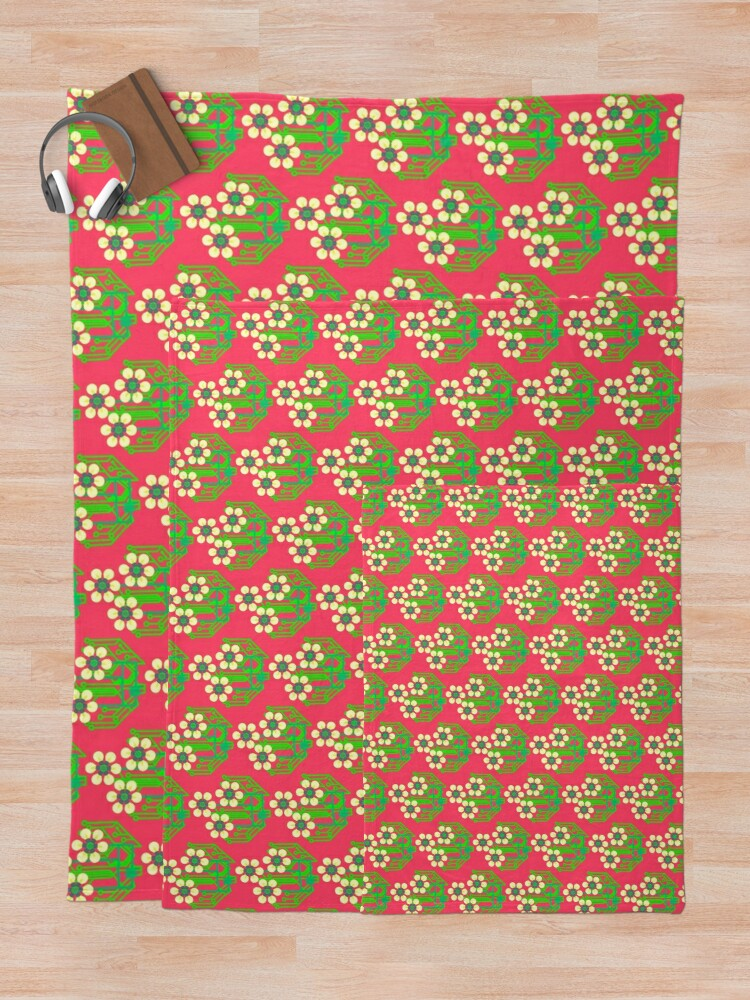 Alternate view of Bright as a daisy - pink Throw Blanket