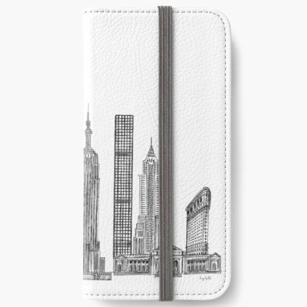 New York Skyline illustration iPhone Wallet