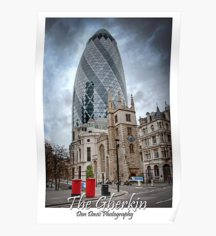 The Gherkin: London, UK. Poster