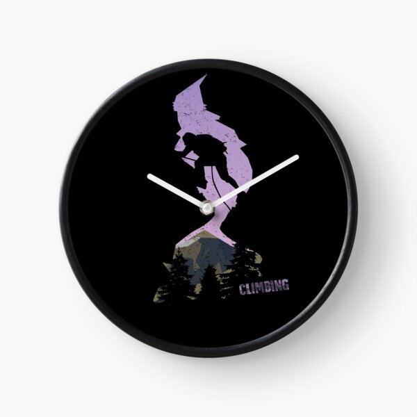 Climbing / bouldering / mountaineering / extreme sports Clock