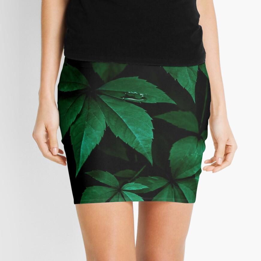 Dark Leaves 7 Mini Skirt