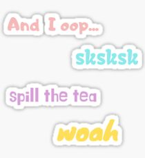 Pastel VSCO Girl sayings sticker pack Sticker