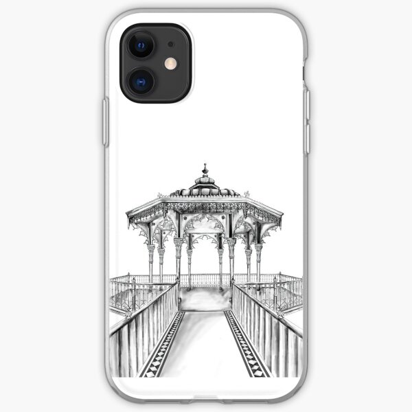 Brighton Bandstand illustration - Brighton beach iPhone Soft Case