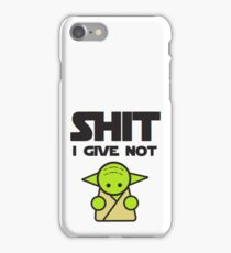 Don't Give A Shit iPhone Case/Skin