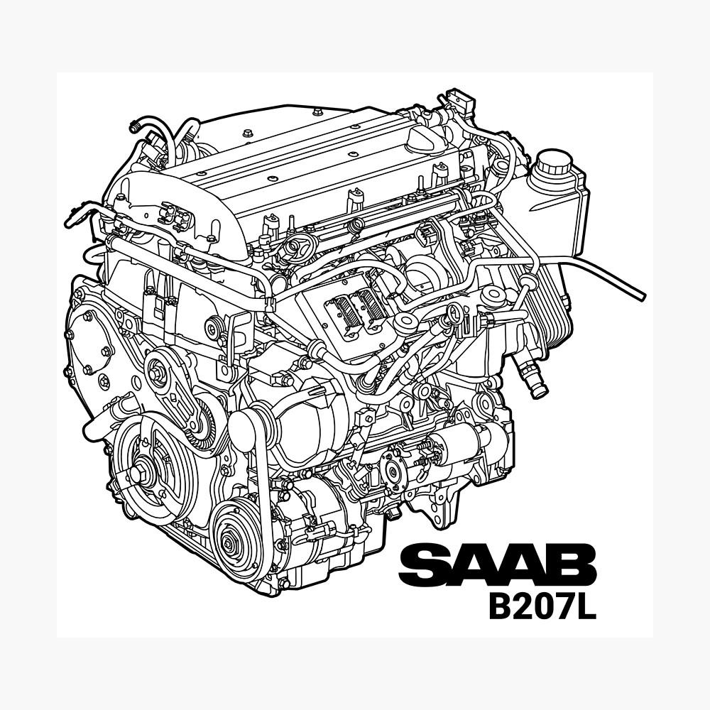 SAAB B207L Engine Diagram