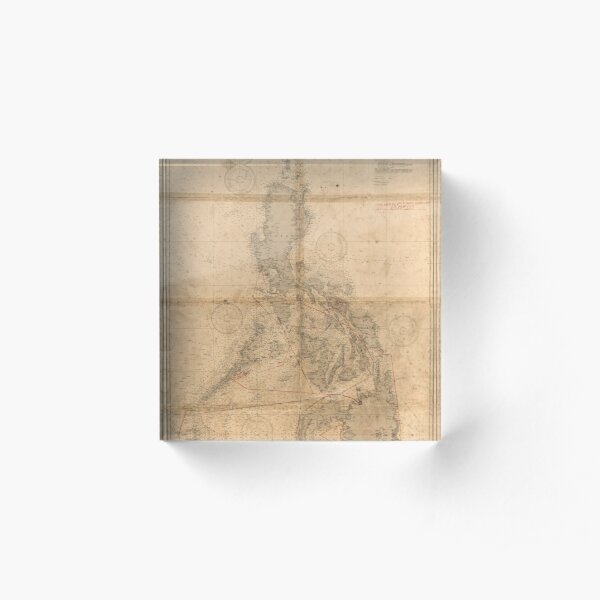 Antique map of Philippines islands circa 1933 Acrylic Block