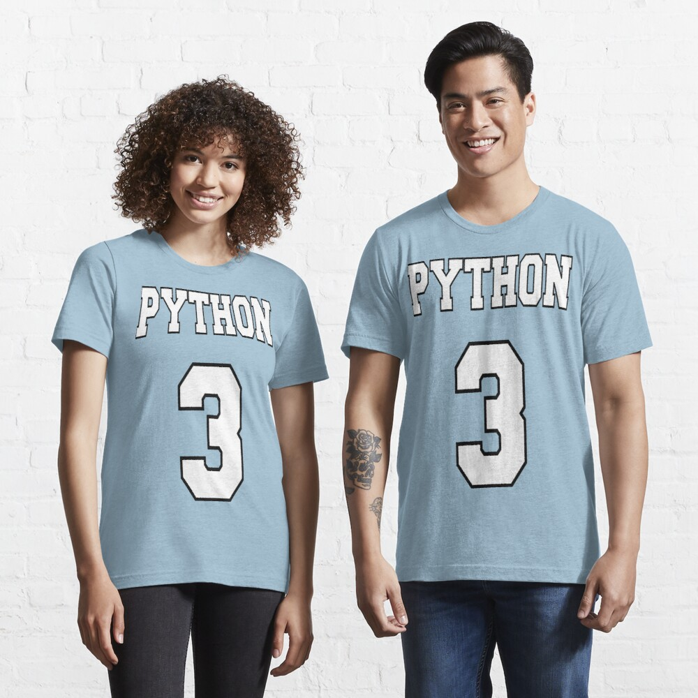 Python 3 - White on Blue Design for Python Programmers Essential T-Shirt