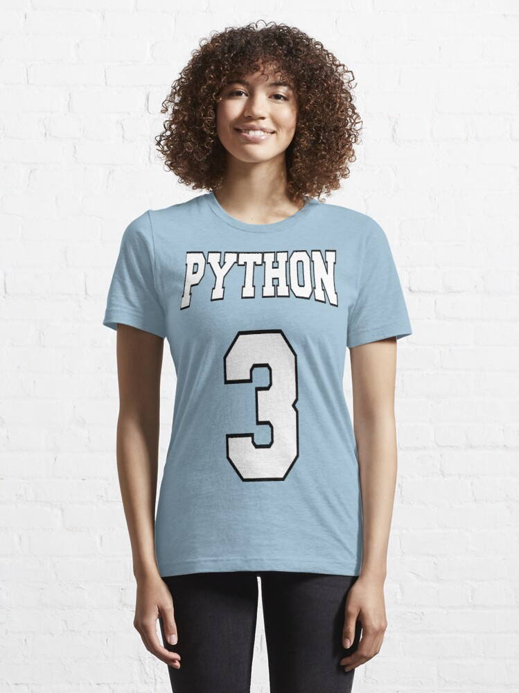 Alternate view of Python 3 - White on Blue Design for Python Programmers Essential T-Shirt