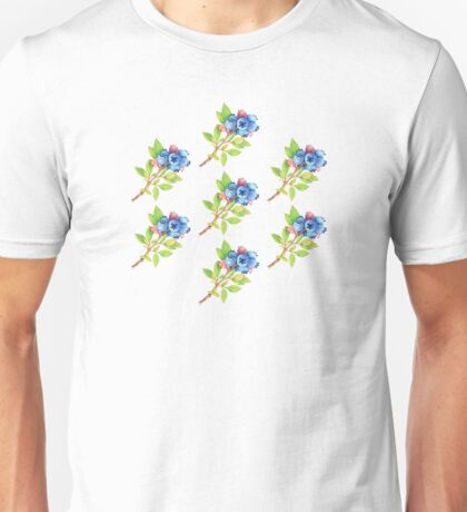 Wild Maine Blueberries Allover Print T-Shirt