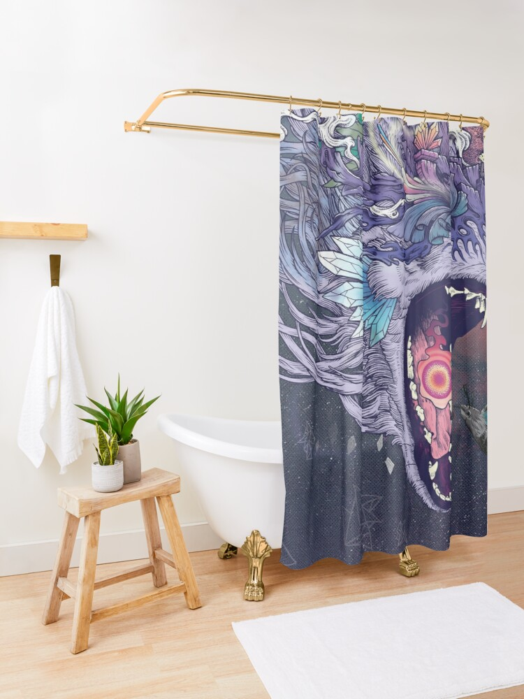 Alternate view of Kalopsia Shower Curtain