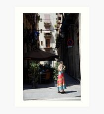 peoplescapes #238, sunny day   Art Print