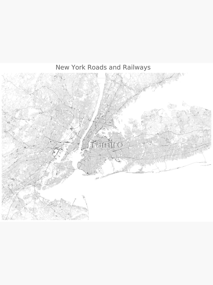 New York Roads and Railways Map by ramiro