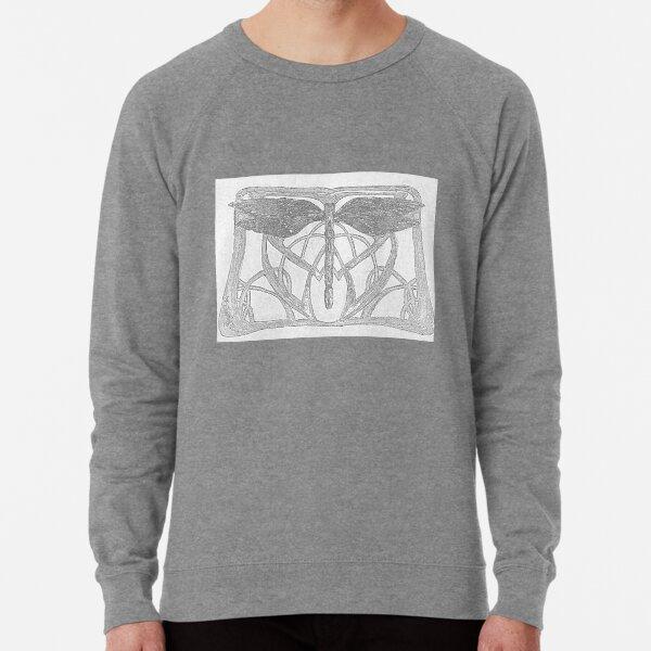 Black and white Victorian style Dragonfly Lightweight Sweatshirt