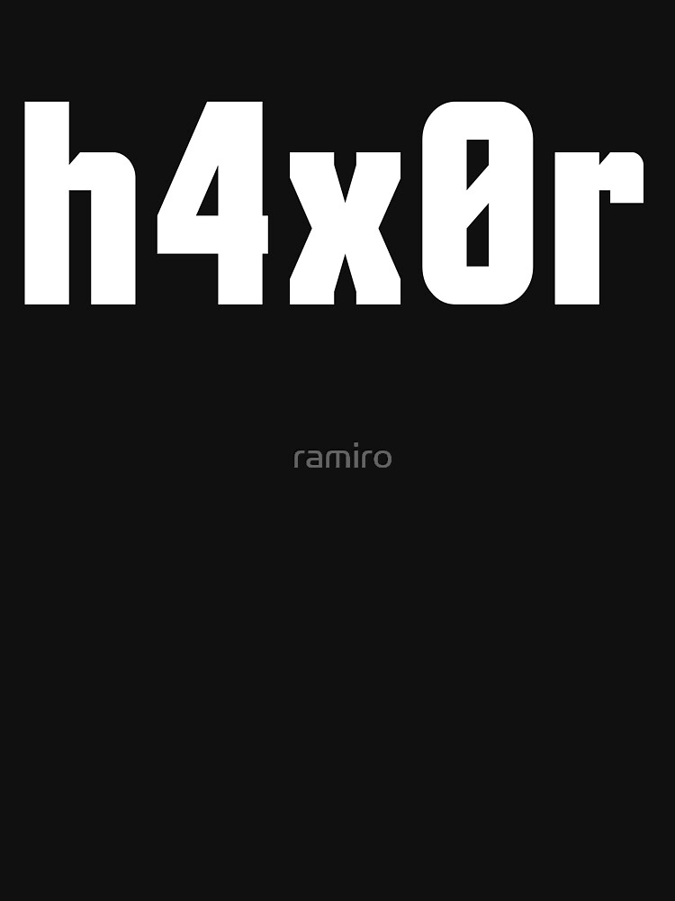 h4x0r for Computer Hackers - White Text Design by ramiro