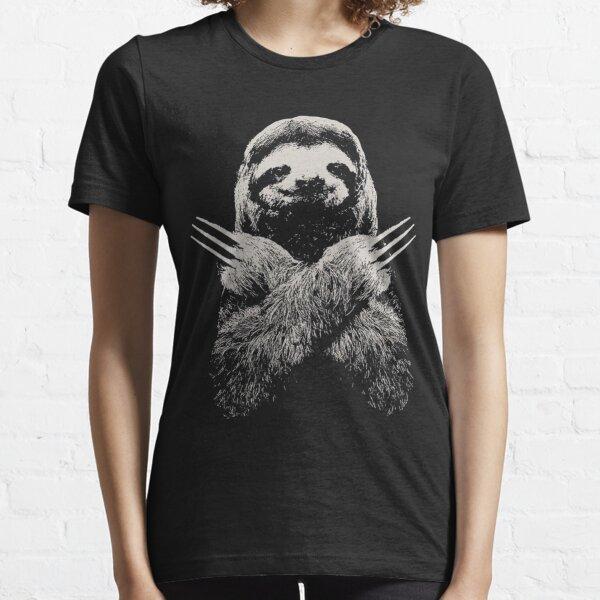 Wolverine Sloth Funny Costume El mejor regalo para los amantes de los perezosos perezosos Camiseta esencial