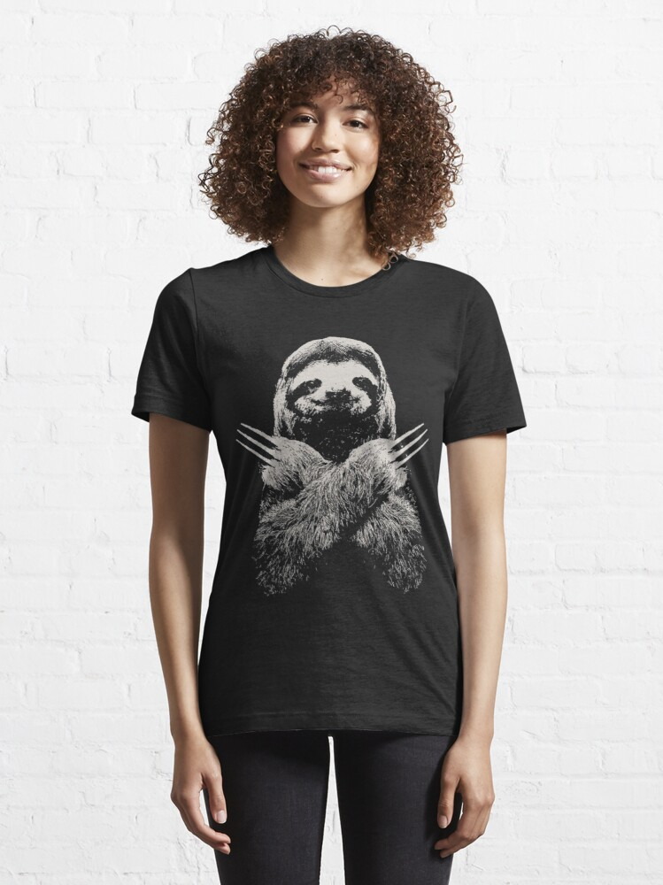 Alternate view of Wolverine Sloth Funny Costume Best gift for lazy sloths lovers Essential T-Shirt