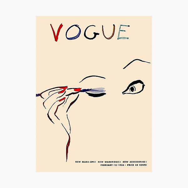 VOGUE : Vintage 1935 Carl Erickson Makeup Magazine Advertising Print Photographic Print
