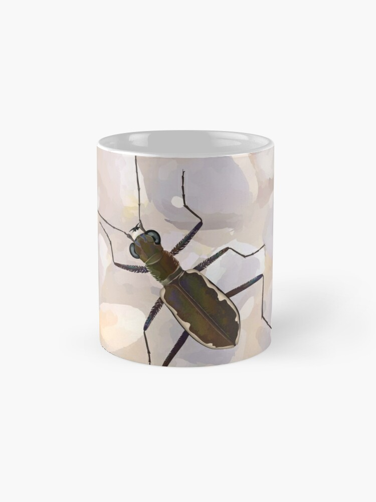 Alternate view of Cobblestone tiger beetle, Cicindela marginipennis Mug