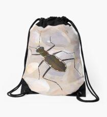 Cobblestone tiger beetle, Cicindela marginipennis Drawstring Bag