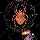 Funny spider web owl dinner menu by BigMRanch