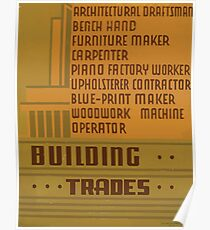 WPA United States Government Work Project Administration Poster 0959 Building Trades Poster