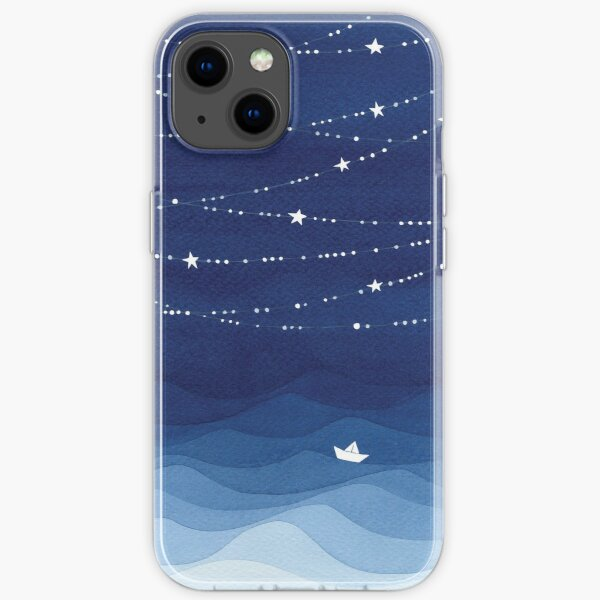 Garland of Stars IV, nautical watercolor iPhone Soft Case