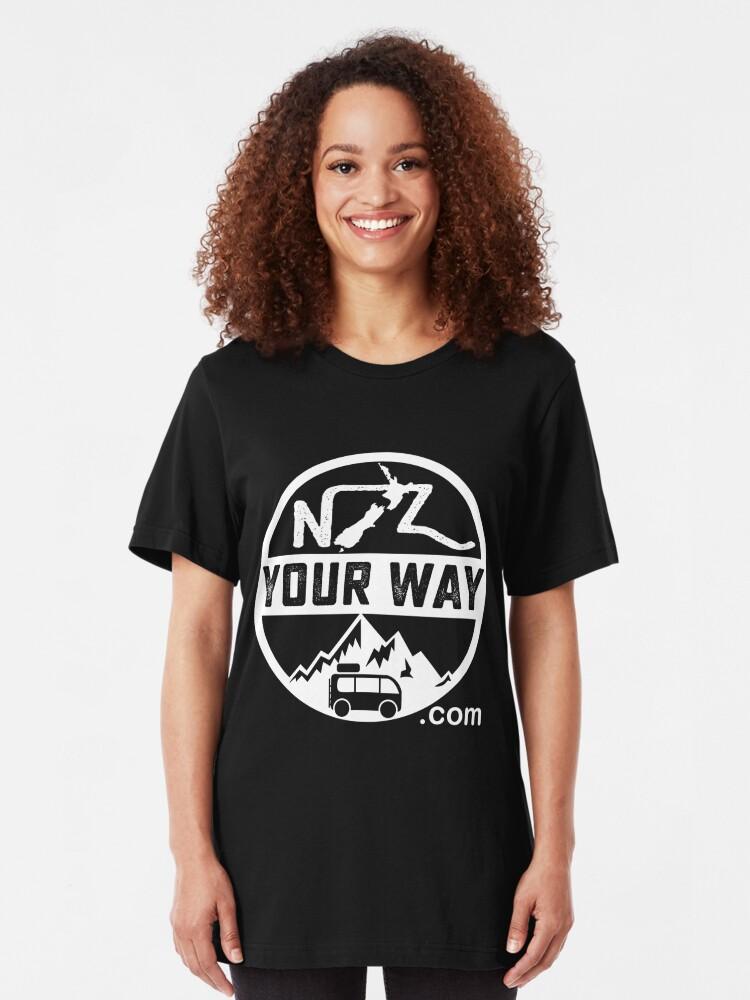 T-shirt ajusté ''Logo du site de voyage NZYourWay.com': autre vue