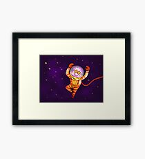 Funky gnome in deep space Framed Print