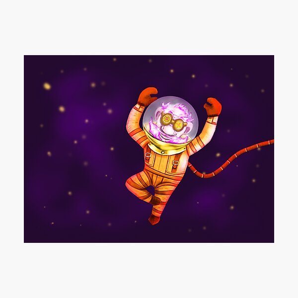 Funky gnome in deep space Photographic Print