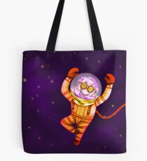 Funky gnome in deep space Tote Bag