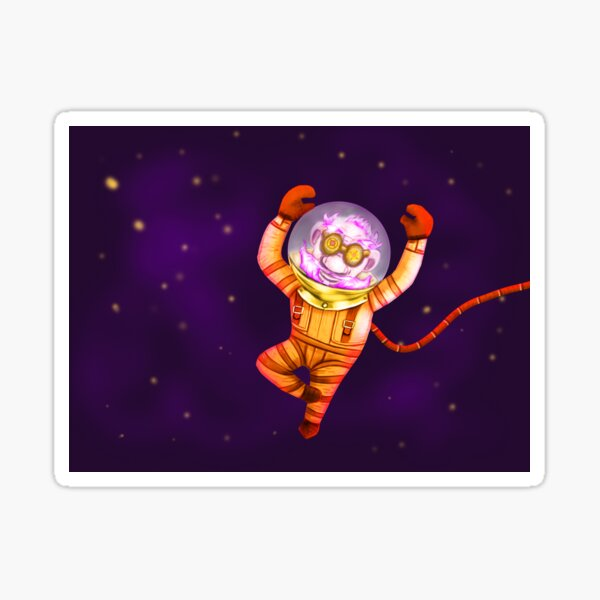 Funky gnome in deep space Sticker