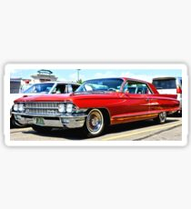 Red Classic Cadillac Sticker
