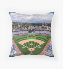 Los Angeles Home of Baseball Fever Throw Pillow