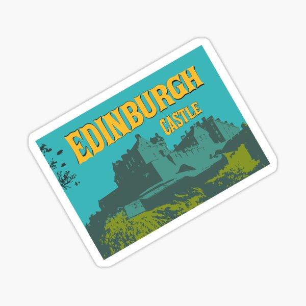 Edinburgh Castle- Retro Illustration Sticker
