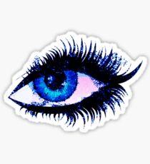 Weibliches Auge des digitalen Aquarells Sticker
