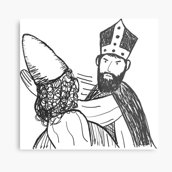 St. Nicholas and Arius Metal Print