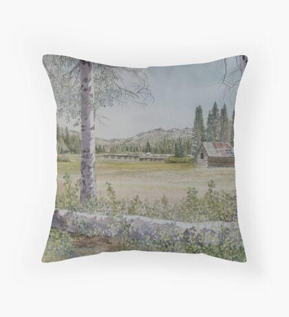 Duck Lake Throw Pillow