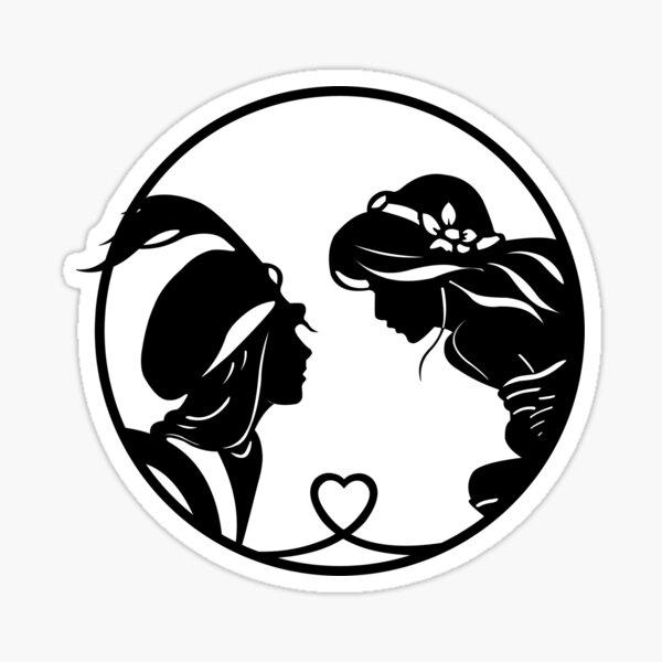 Aladdin love Sticker