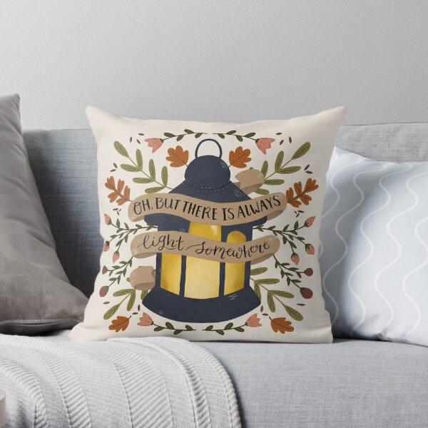 Always Light Somewhere Throw Pillow