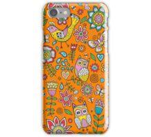 Owls Birds Butterfly&Flower iPhone Case/Skin