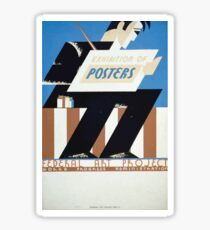 WPA United States Government Work Project Administration Poster 0378 Exhibition of Posters Federal Art Project Sticker