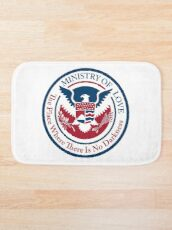 ministry of love, official seal Bath Mat