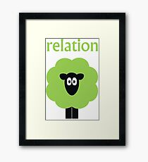 Relation (Shaun The) Sheep Framed Print
