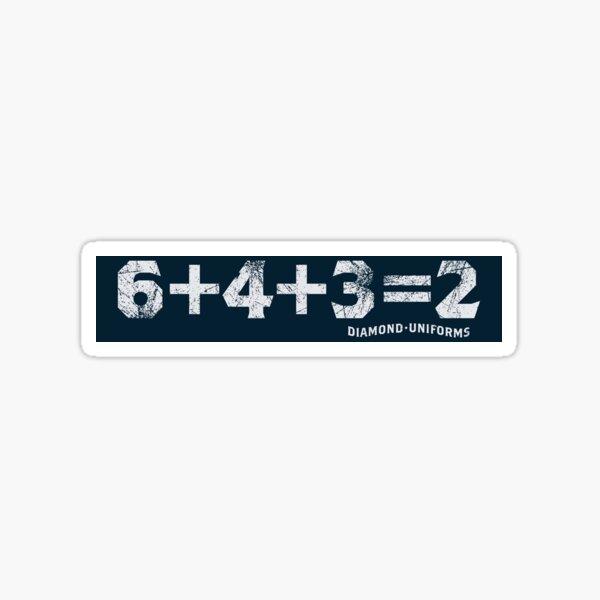 6+4+3=2 Sticker