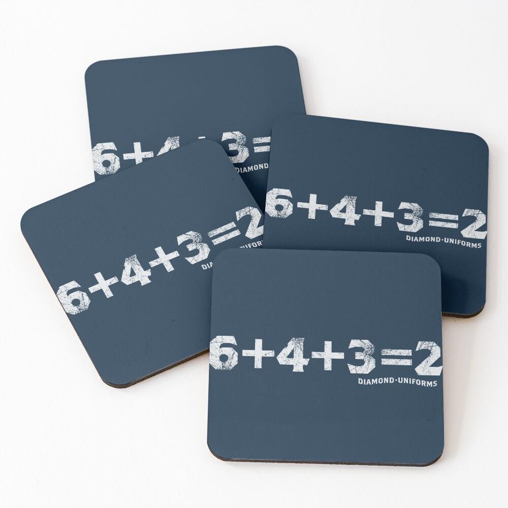 6+4+3=2 Coasters (Set of 4)
