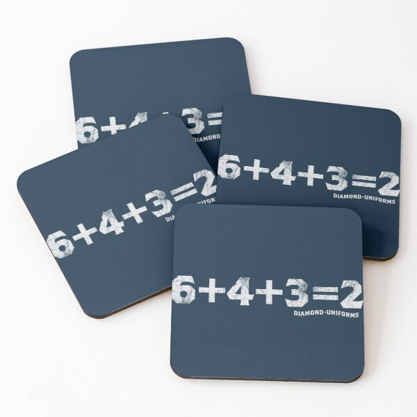 6+4+3=2 Coasters (Set of 4)