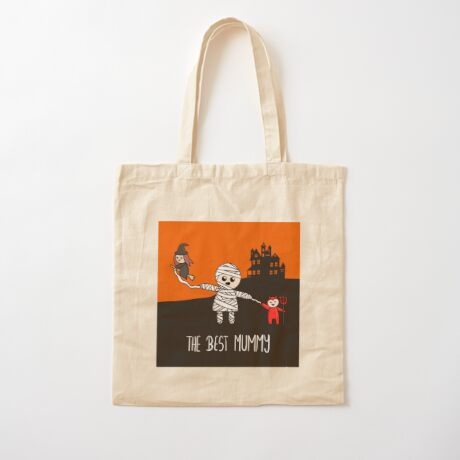 Halloween Family - The Best Mummy  Cotton Tote Bag