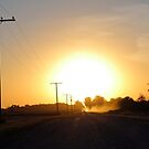 Grid Road Sunset by madeinsask