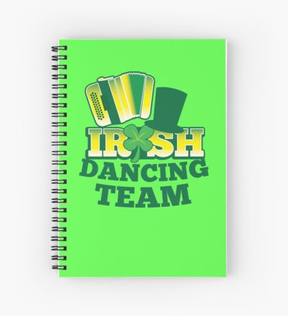 Irish Dancing Team with top hat and accordion Spiral Notebook
